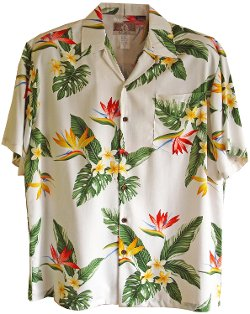 RJC - Bird of Paradise Display Rayon Shirt