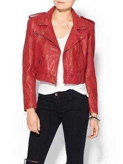 Pam & Gela  - Cropped Leather Jacket