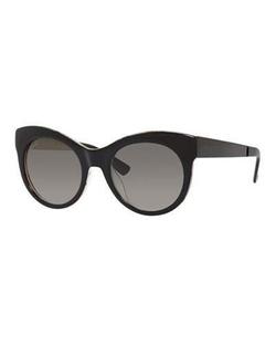 Gucci - Floral-Interior Cat-Eye Sunglasses