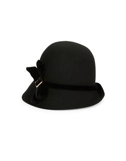 Giovannio - Velvet Banded Wool Cloche Hat