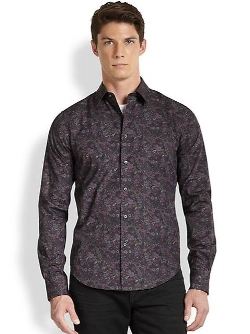 Vince -  Floral-Print Cotton Shirt