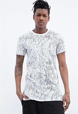 Forever 21 - Control Sector Shard Print Tee