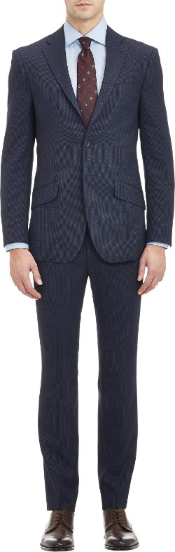 Richard James - Pin Dot-Stripe Two-Button Suit