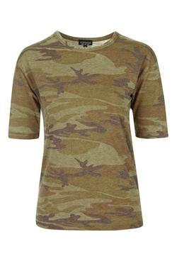 Topshop - Camo Burnout T-Shirt