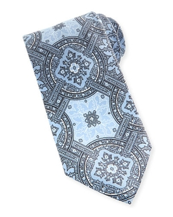 Brioni - Large-Medallion Silk Tie