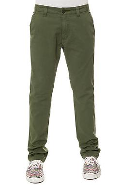 Fourstar Clothing  - The Ishod Straight Slim Fatigue Pants in Olive