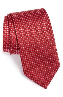 Brioni  - Grid Woven Silk Tie