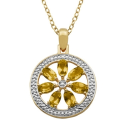 Classic Treasures - Flower Medallion Pendant Necklace