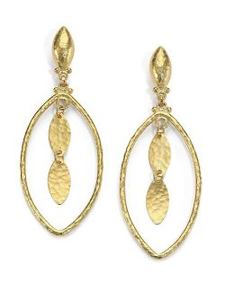 Gurhan - Willow Yellow Gold Marquis Drop Earrings