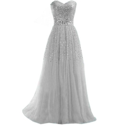 Partiss - A Line Sweetheart Beading Evening Dress
