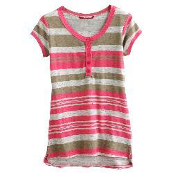 Unionbay  - Striped Henley - Girls