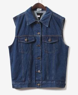 Chicnova - BF&Retro Style Sleeveless All-match Denim Vest