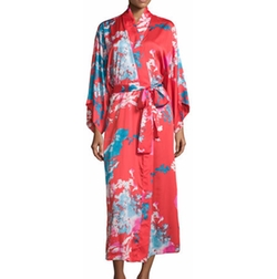 Natori - Chianti Floral-Print Long Wrap Robe, Cinnabar