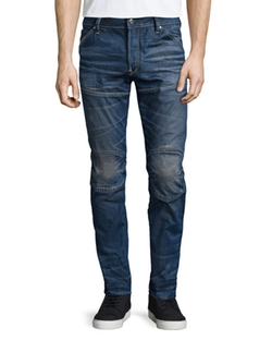 G-Star  - Raw For The Oceans Slim-Fit Moto Jeans
