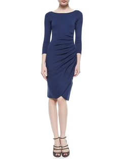 Armani Collezioni - Bateau-Neck Side-Ruched Dress