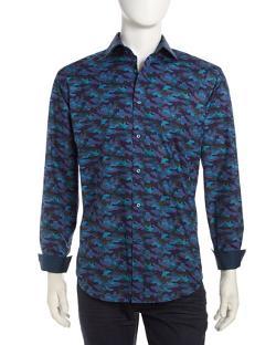 Neiman Marcus  - Camo Print Sport Shirt