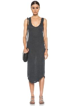 RAQUEL ALLEGRA  - Cotton-Blend Tank Dress in Grey
