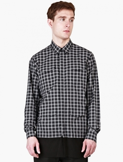 Casely-Hayford  - Checked Stanley Contrast-Hem Overshirt