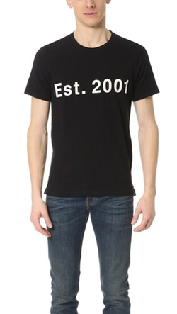 Rag & Bone  - Est. 2001 Graphic T-Shirt