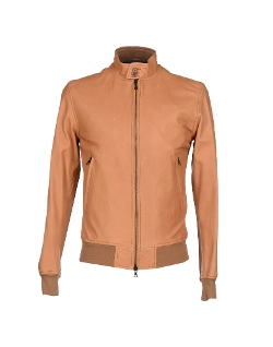 Cover Orciani - Brown Leather Bomber Jacket