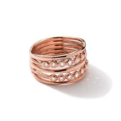 Ippolita - Rose Gold Starlet Ring With Diamonds