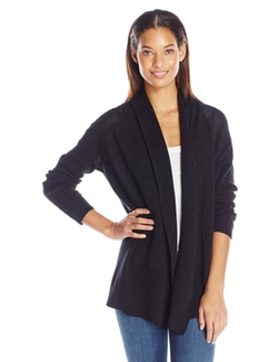 NYDJ  - Draped Front Mesh Cardigan Sweater