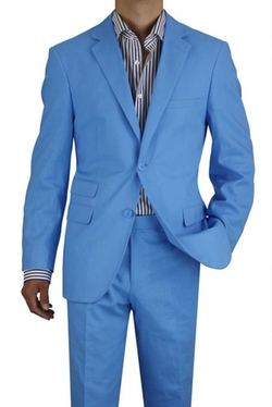 Gino Valentino  - Two Button Two Piece Linen Suit