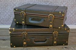 UMA Enterprises - Faux Leather Suitcase