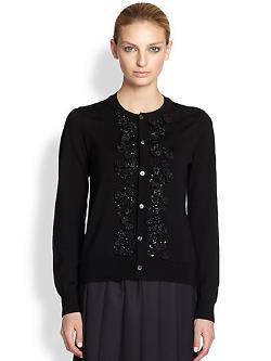 Comme des Garcons Comme des Garcons  - Embroidered Wool Cardigan