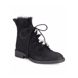 Pedro Garcia  - Kaede Suede & Shearling Lace-Up Booties