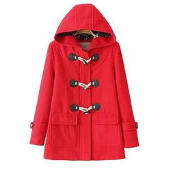 Ipretty - Toggle Coat With Double Breasted Button