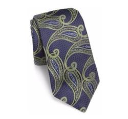 Ike Behar - Paisley Printed Silk Tie