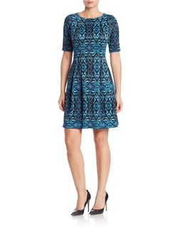 Gabby Skye - Ikat Fit-And-Flare Dress