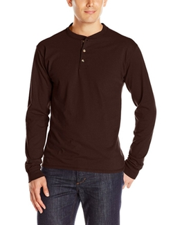 Hanes - Beefy Henley Shirt