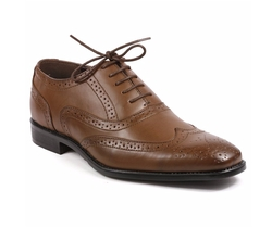 Dream - Perforated Lace Up Wing Tip Oxford Shoes