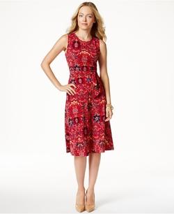 Charter Club - Printed A-Line Midi Dress
