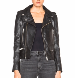 Nicholas - Leather Zip Biker Jacket
