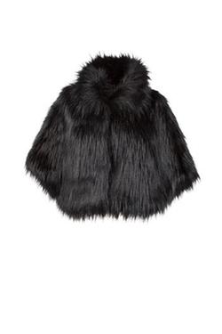 Unreal Fur - Faux Fur Cape Coat