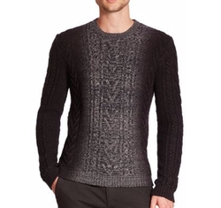 Vince - Marled Degrade Cable-Knit Sweater