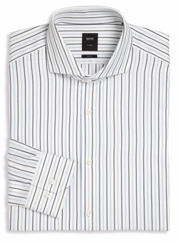 Hugo Boss - Slim-Fit Striped Dress Shirt