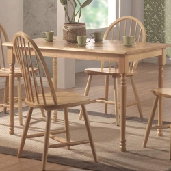 Coaster Home Furnishings - Butcher Block Farm Dining Table