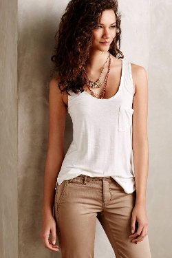 Pure + Good - Charmeuse Pocket Tank Top