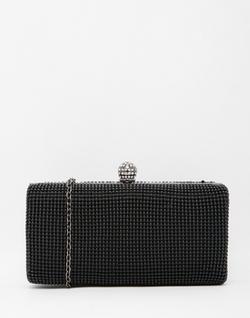 Liquorish  - Embellished Box Clutch Bag