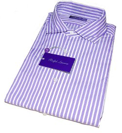 Polo Ralph Lauren - Purple Label White Stripe Dress Shirt