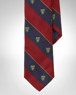 Ralph Lauren - Silk Repp Club Narrow Tie