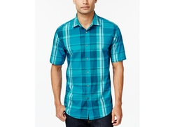 Alfani Red - Plaid Slim-Fit Short-Sleeve Shirt