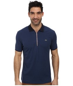 Lacoste - Pique Pima Stretch Slim Fit Polo With Zipper Placket