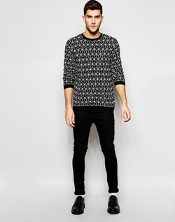 Asos - Geo Design Knitted Sweater