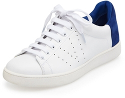 Vince - Varin Two-Tone Leather Sneakers