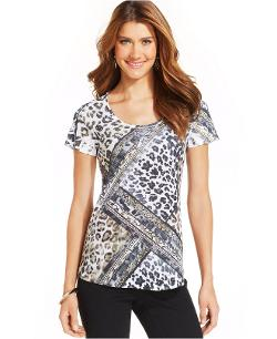 Style&co.  - Sublimated Animal-Print Tee